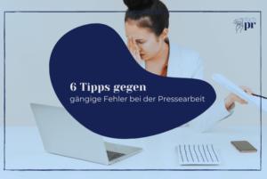 Titelbild: Pressearbeit Tipps
