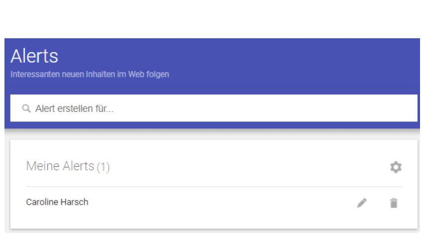 Medienbeobachtung Google Alerts bearbeiten