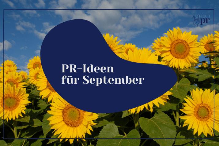 Titelbild: PR Themen September