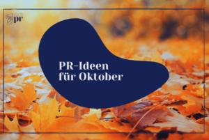Titelbild: PR-Ideen für Oktober