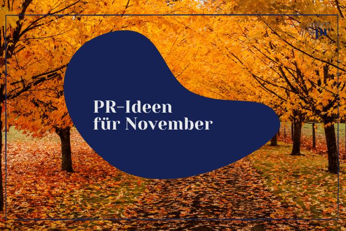Titelbild: PR Themen November