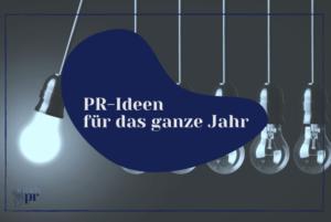 Titelbild: PR-Ideen für das ganze Jahr